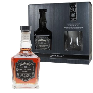 Whisky Confezione con Bicchiere Jack Daniel's Single Barrel CL 70 45%Vol