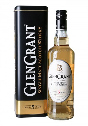 WHISKY GLEN GRANT SINGLE MALT SCOTCH 5 ANNI ASTUCCIO DI LATTA CL70 40%Vol